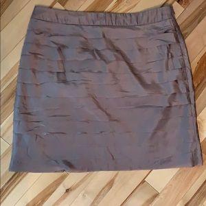 Loft pleated silk mini skirt size 6